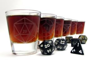 dice shot glasses