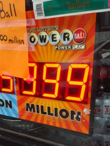 Bodega sign maxed out at 999 million Powerball jackpot