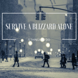 5 Things to do to Survive a Blizzard Alone